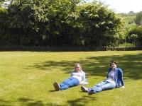 Guests relaxing in the garden