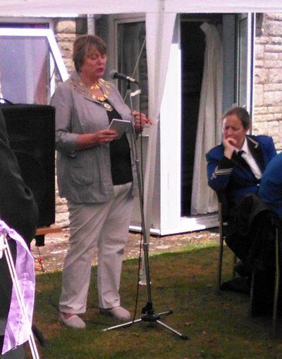 Mayor of Swindon, Councillor Maureen Penny, at the Legge House celebrations