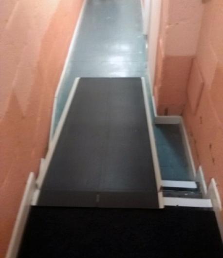 Accessibility via portable ramp